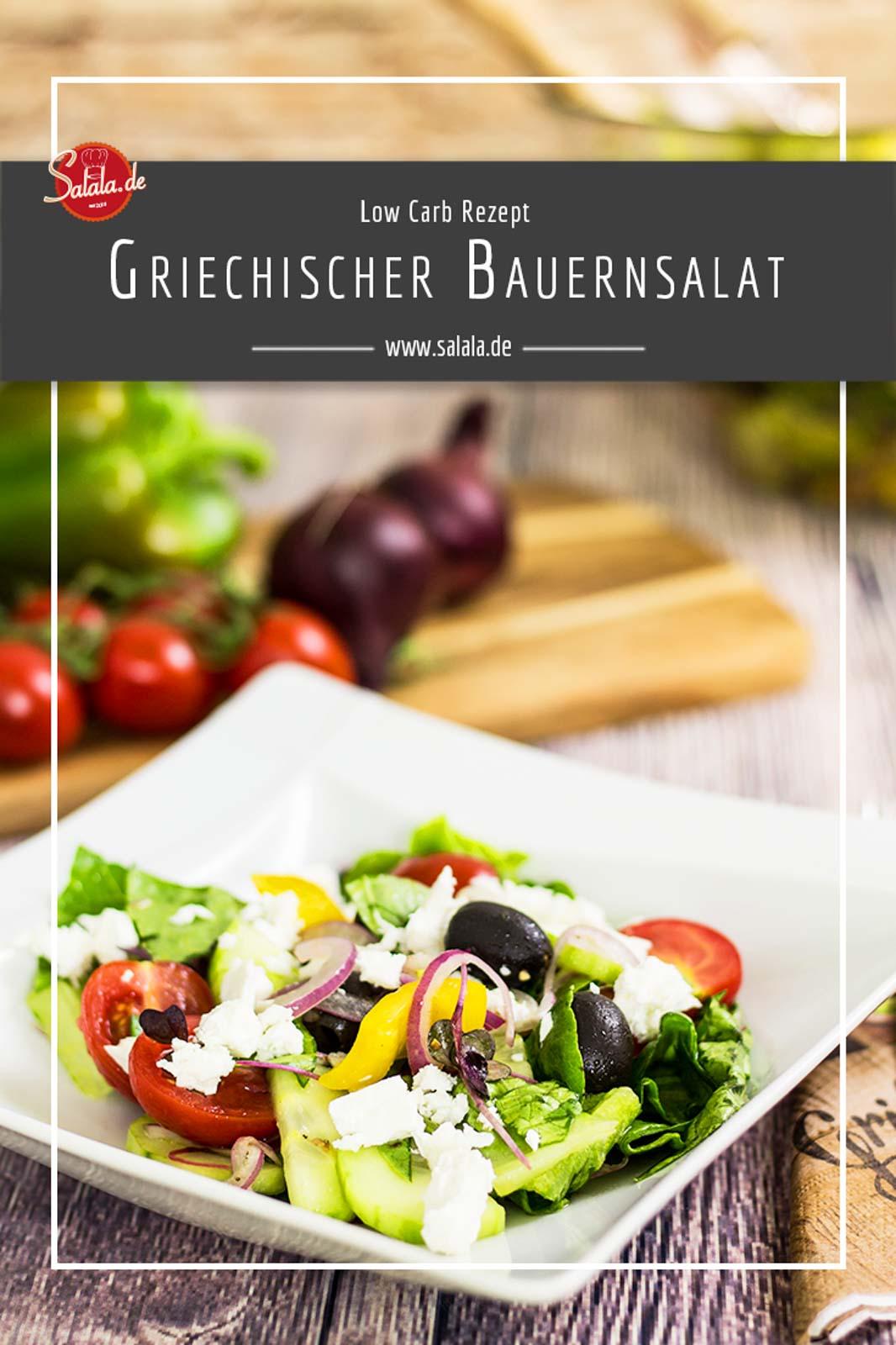 Griechischer Bauernsalat ganz einfach selbst gemacht ohne Kohlenhydrate Low Carb Rezept #lowcarb #zuckerfrei #salat