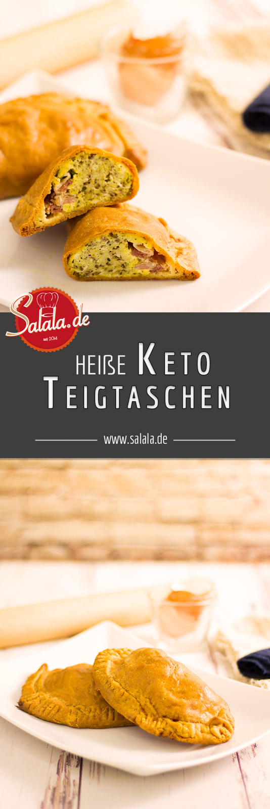 Heiße Keto Teigtaschen - by salala.de - ohne Mehl Low Carb Rezept mit Fathead Teig