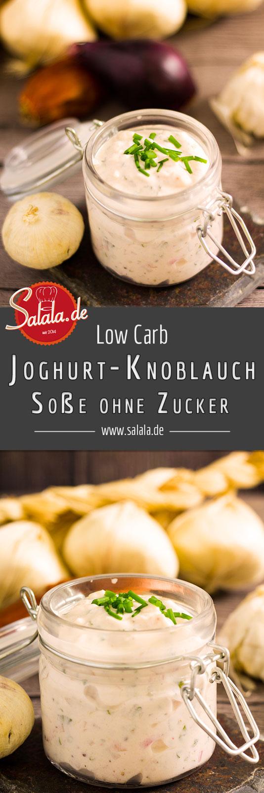 Joghurt-Knoblauch-Sauce ohne Zucker ganz einfach selber machen Low Carb Grillsoße Rezept #lowcarb #keto #zuckerfrei #bbq