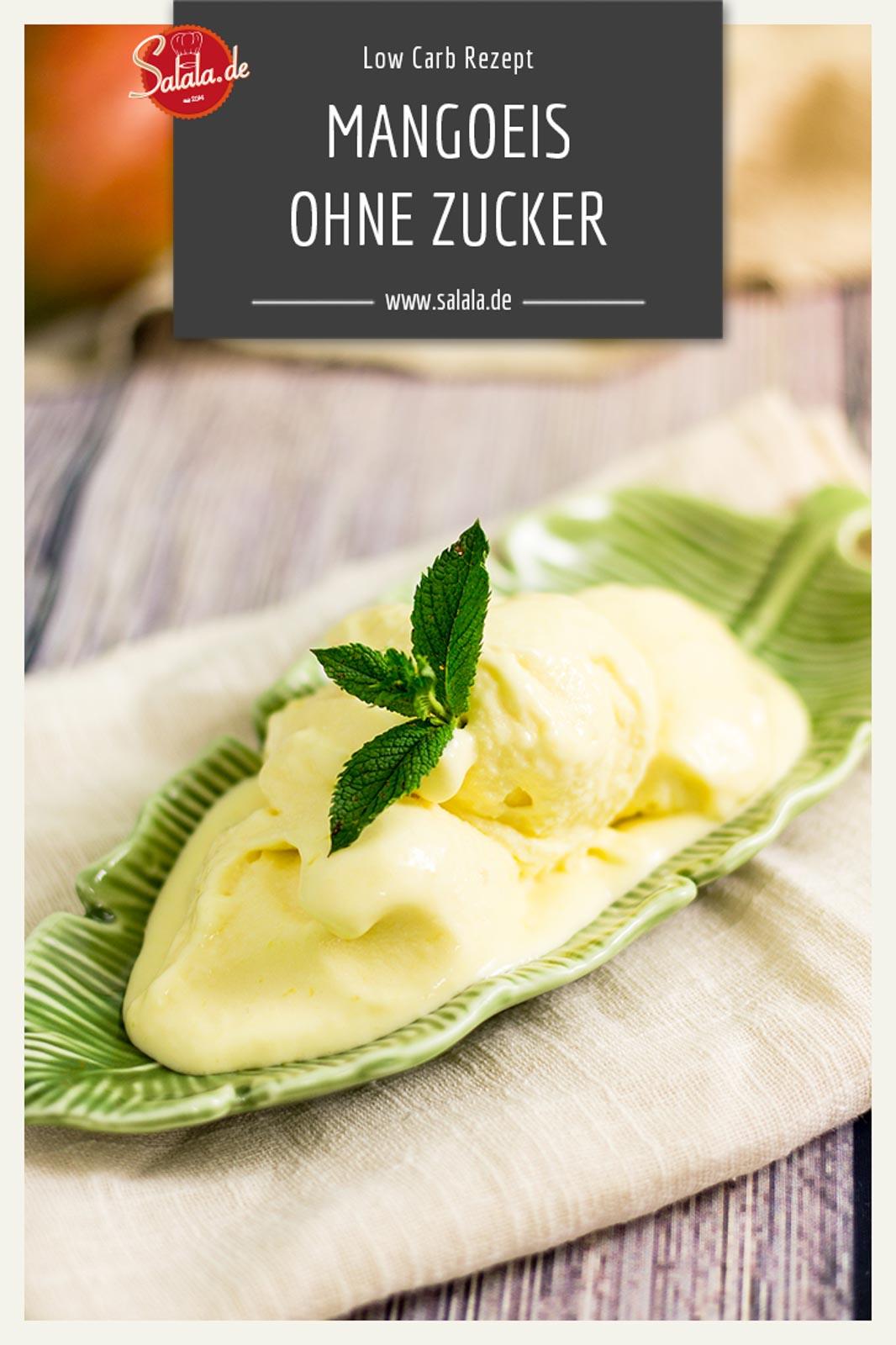 Low Carb Joghurt-Mangoeis - by salala.de - cremiges Speiseies ohne Zucker und mit frischer Mango - mit Ibywind YF700 #eis #zuckerfrei #frucht #lowcarb