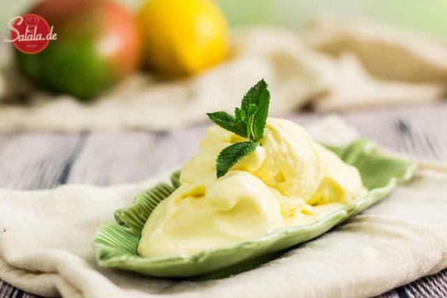 Low Carb Mangoeis - by salala.de - cremiges Speiseies ohne Zucker und mit frischer Mango