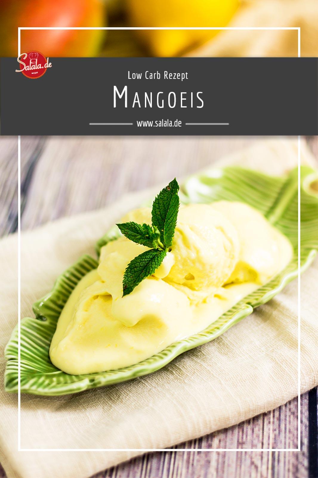 Low Carb Mangoeis - by salala.de - cremiges Speiseies ohne Zucker und mit frischer Mango - mit Eismaschine Ibywind YF700 #eis #zuckerfrei #frucht #lowcarb