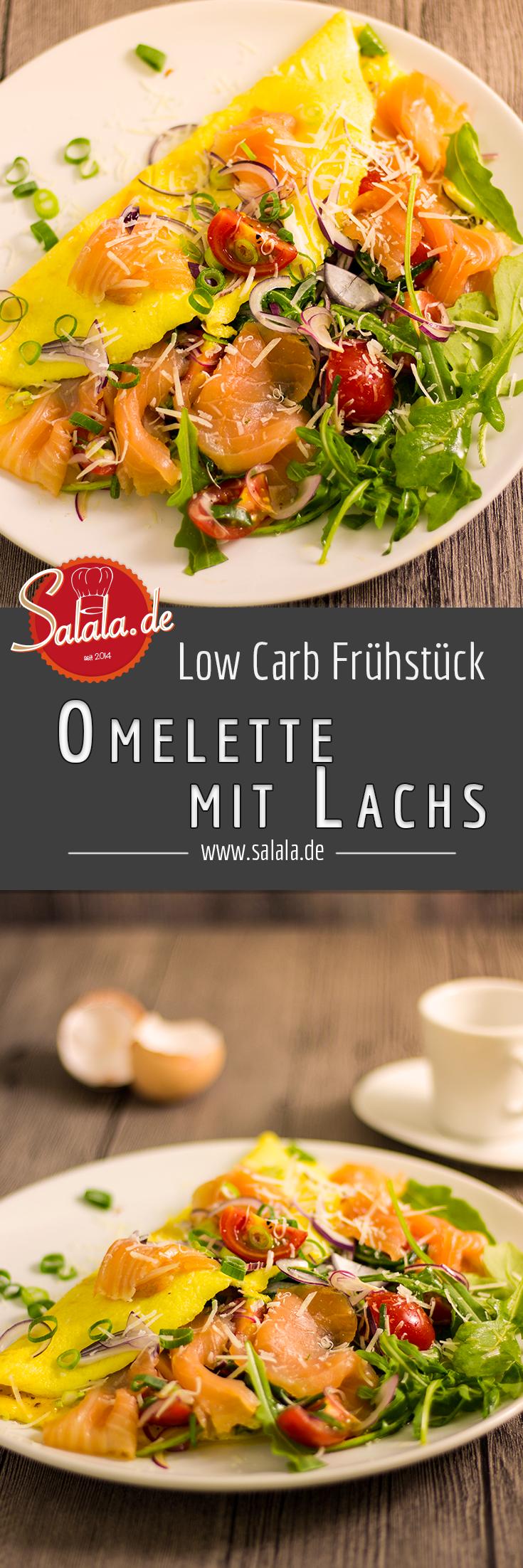 Frisches und herzhaftes Frühstückomelett mit Salat und Lachs. Ganz anders als normalerweise, aber das macht es um so sinnvoller es mal zu probieren. Uns hat es wahnsinnig gut geschmeckt und ein gutes Omelette hat auch irgendwie was edles ;) #lowcarb #omelette #frühstück #lowcarbfrühstück #einfachkochen #rezepte