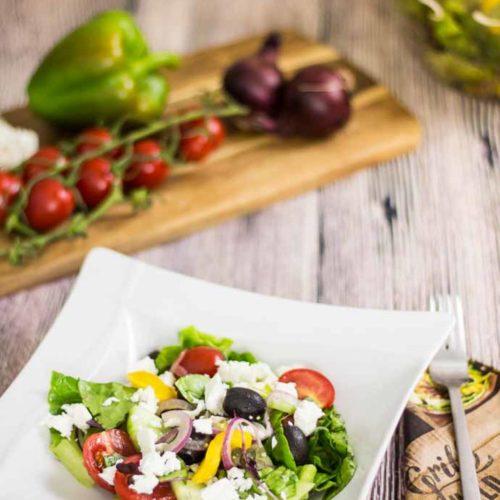 Rezept für griechischen Bauernsalat ohne Kohlenhydrate ganz einfach selbst gemacht - by salala.de