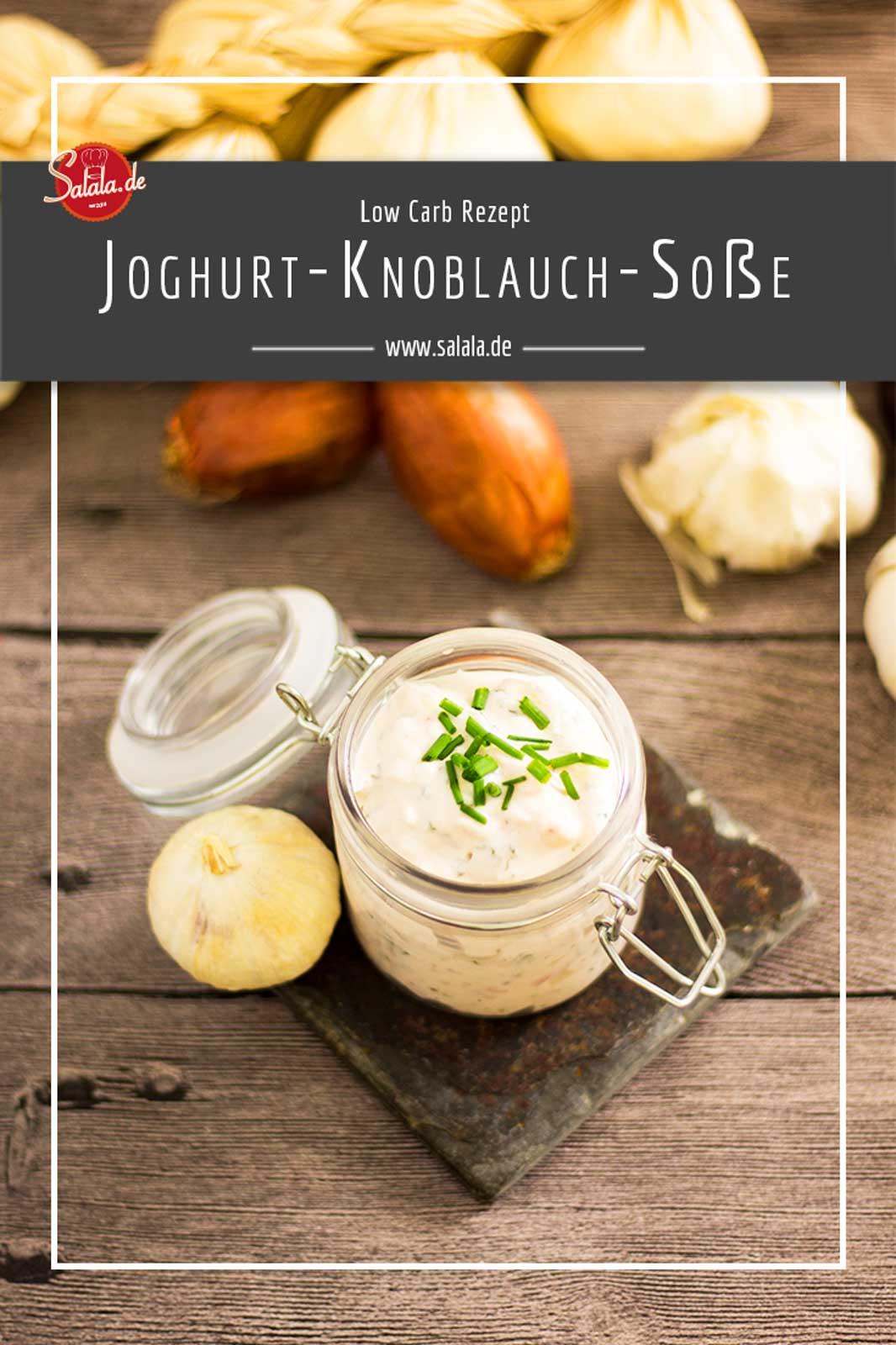 aromatische Joghurt-Knoblauch-Sauce ohne Zucker einfach selber machen Low Carb Grillsoße Rezept #lowcarb #keto #zuckerfrei #bbq