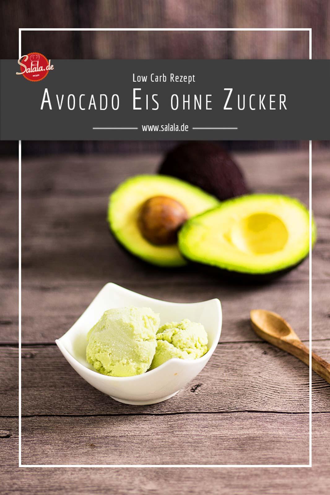 Cremiges Avocado Eis ohne Zucker - by salala.de - selber machen mit Eismaschine Ibywind YF700 Rezept #zuckerfrei #eis #lowcarb