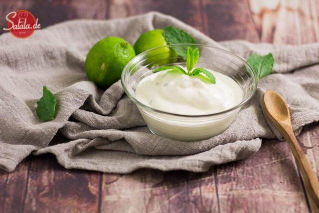 Frozen Yoghurt mit Limette und Minze – Eismaschine Ibywind YF700