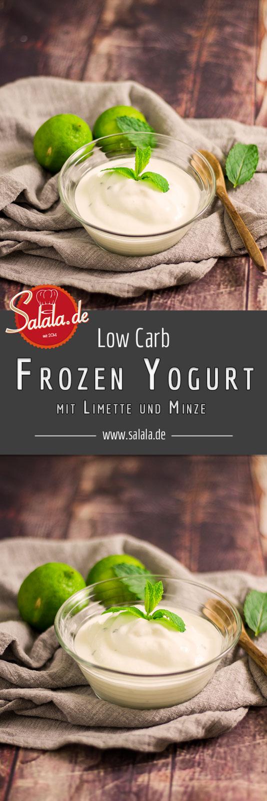 Frozen Yogurt mit Limette und Minze - by salala.de - ohne Zucker Low Carb Rezept mit Ibywind YF700 #lowcarb #lowcarbrezept #frozenyoghurt #zuckerfrei