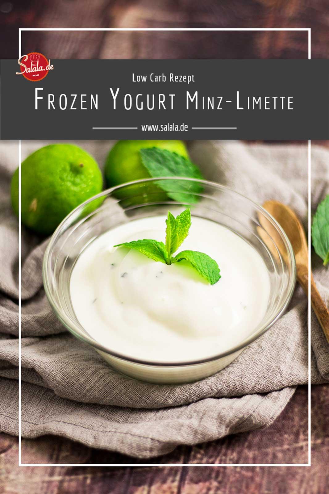 Frozen Yogurt mit Limette und Minze - by salala.de - zuckerfrei Low Carb Rezept mit Eismaschine Ibywind YF700 #lowcarb #lowcarbrezept #frozenyoghurt #zuckerfrei