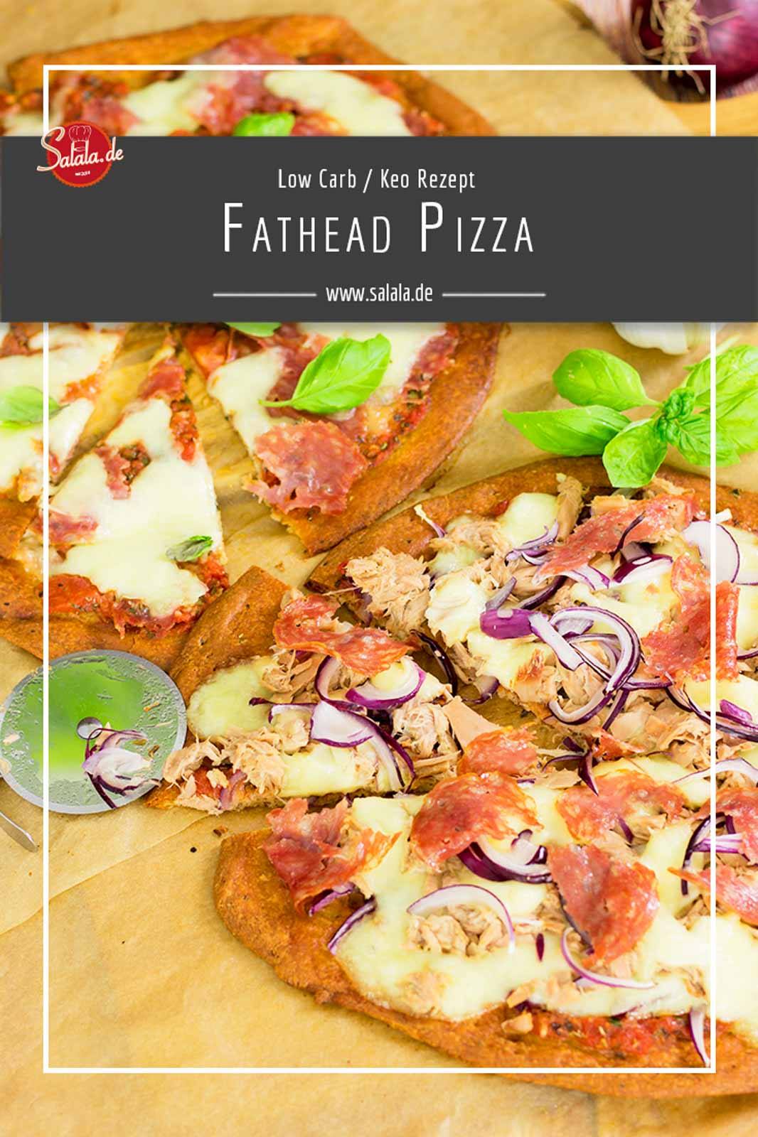 Knuspriger Pizzateig mit minimalen Kohlehydraten. Kein Mehl, kein Zucker. Dieser Low Carb Pizzateig ist die fehlende Komponente für richtig gute Low Carb Pizza! Die Fathead Pizza ist nicht nur Low Carb sondern auch super Keto geeignet. #Pizza #LowCarb #LowCarbRezepte #LowCarbPizza #Keto