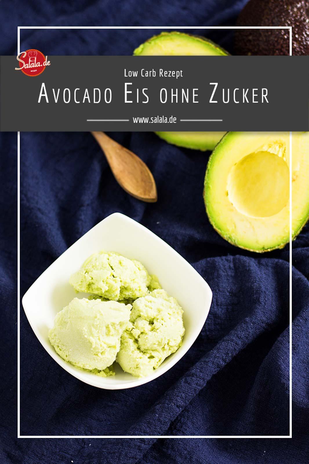 Low Carb Avocado Eis ohne Zucker - by salala.de - selber machen mit Eismaschine Ibywind YF700 Rezept #zuckerfrei #eis #lowcarb