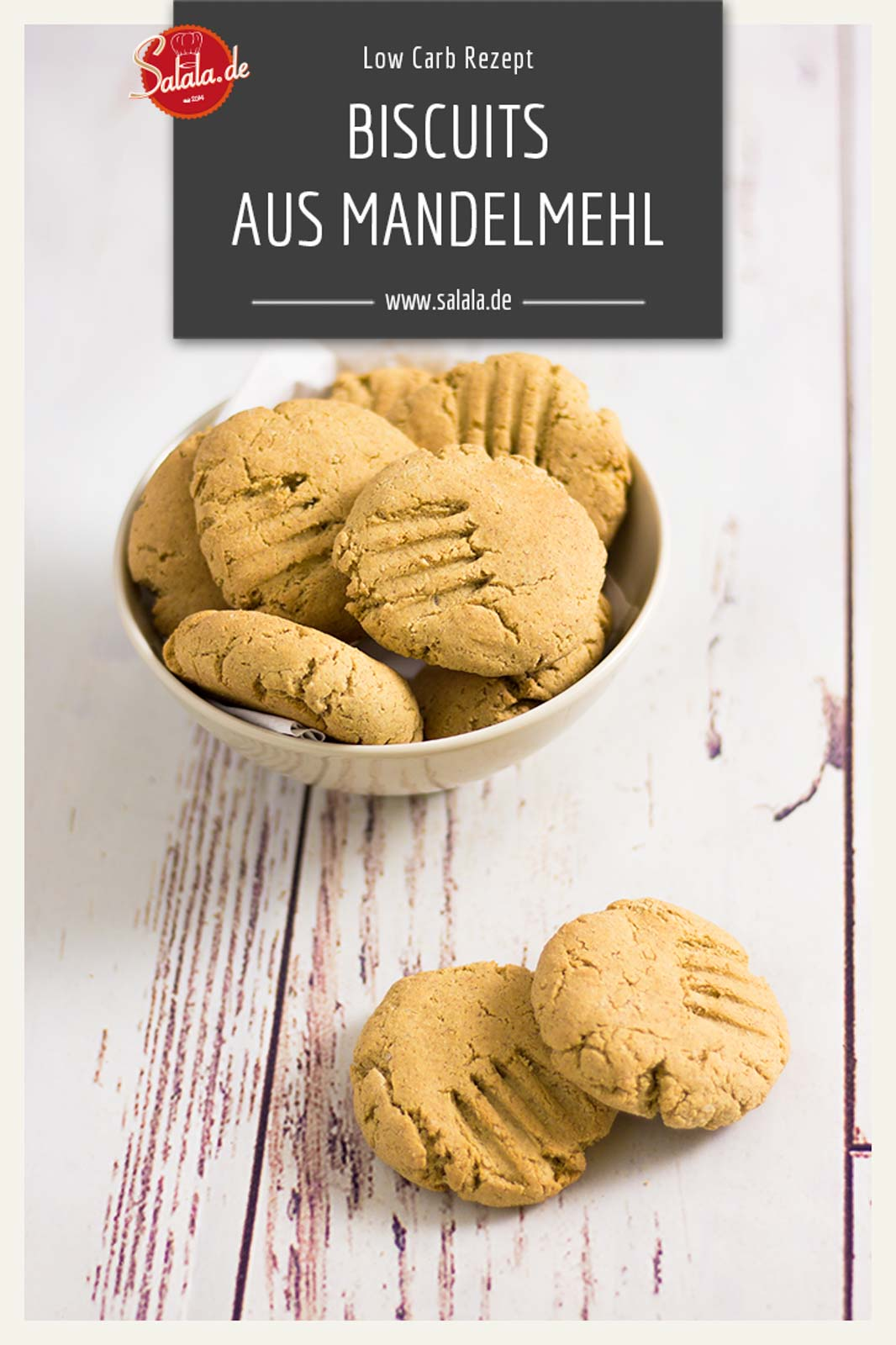 Mandel Biscuits - by salala.de - Rezept Low Carb Beilage backen ohne Mehll #lowcarb #keto #mehlfrei #backen