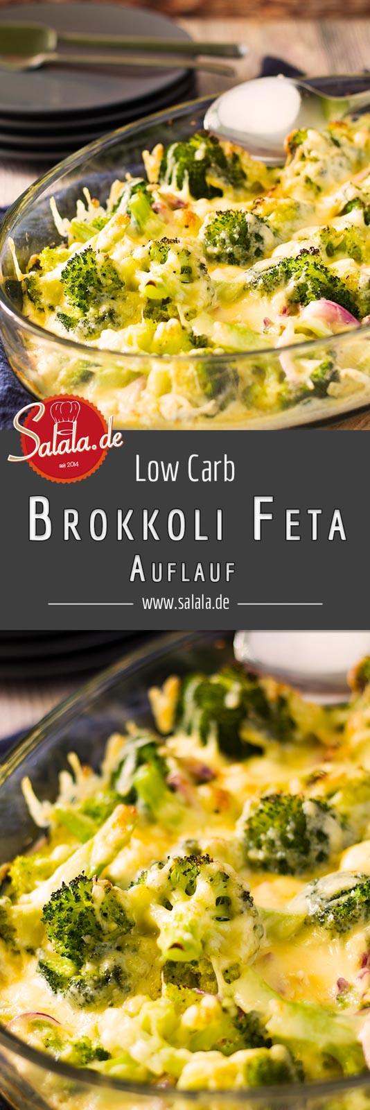 Brokkoli-Feta-Auflauf - by salala.de - Low Carb Rezept vegetarisch mit Ei und Sahne #lowcarbrezept #lowcarb #vegetarisch #gratin #lowcarbveggie