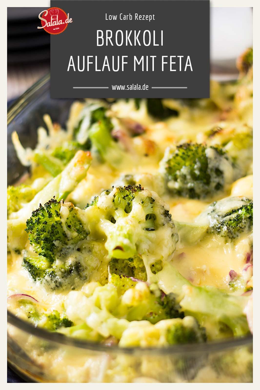 Brokkoli-Feta-Gratin - by salala.de - Low Carb Rezept vegetarisch #lowcarbrezept #lowcarb #vegetarisch #gratin #lowcarbveggie