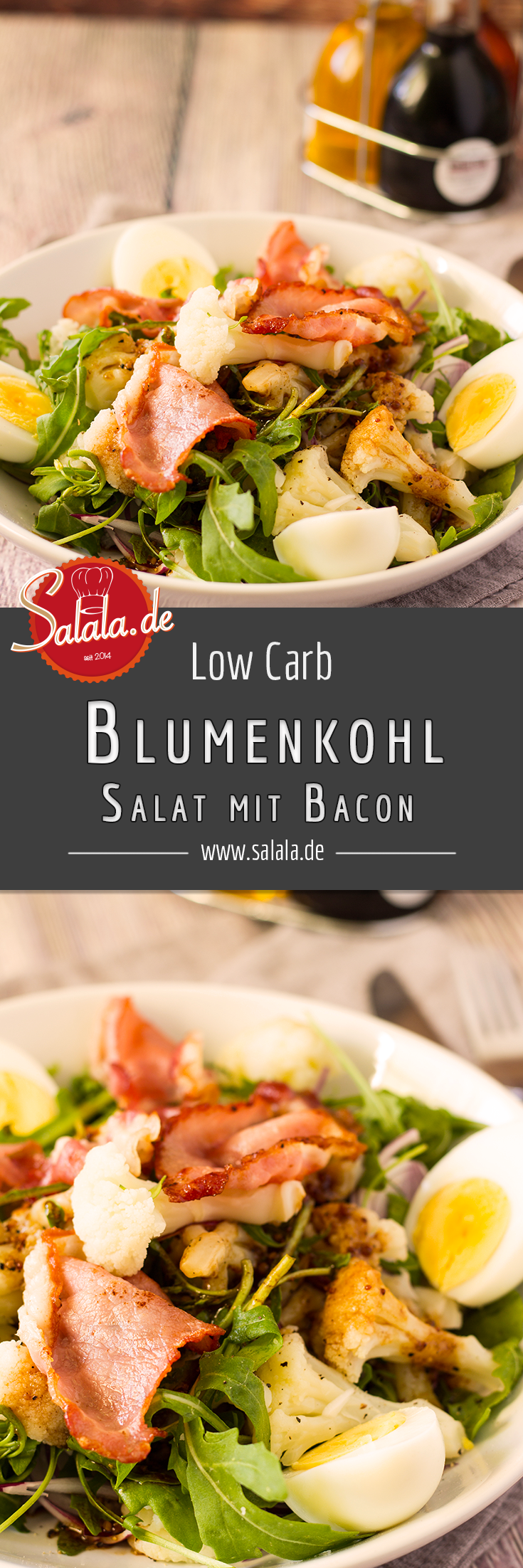 herbstlicher low carb blumenkohlsalat mit bacon low carb mit vroni nico. Black Bedroom Furniture Sets. Home Design Ideas