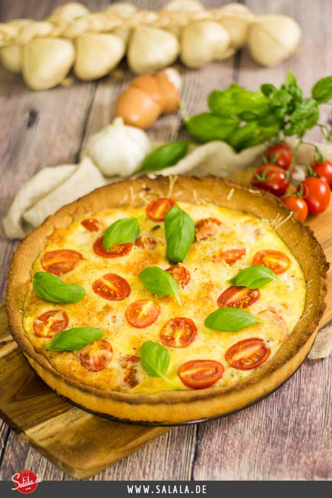 Low Carb Lachs-Quiche - by salala.de - Low Carb Rezept einfach selbermachen mit Tomaten