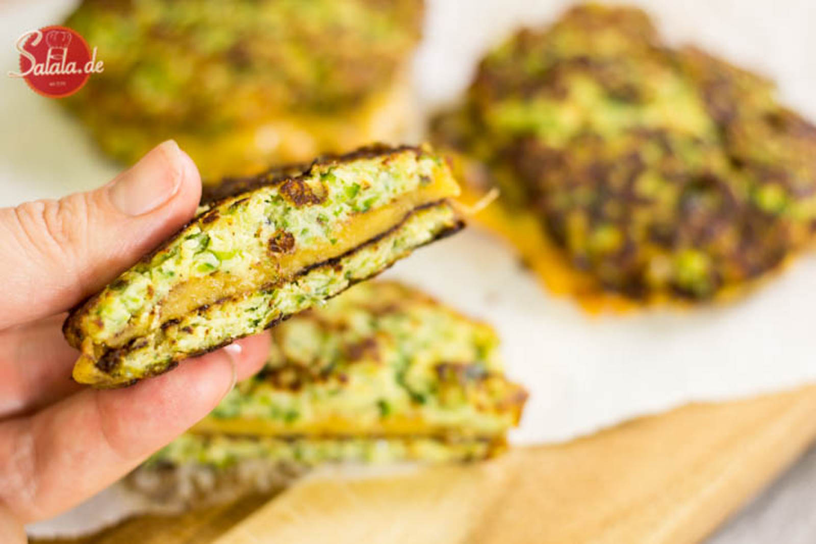 Zucchini Grilled Cheese Sandwich Low Carb