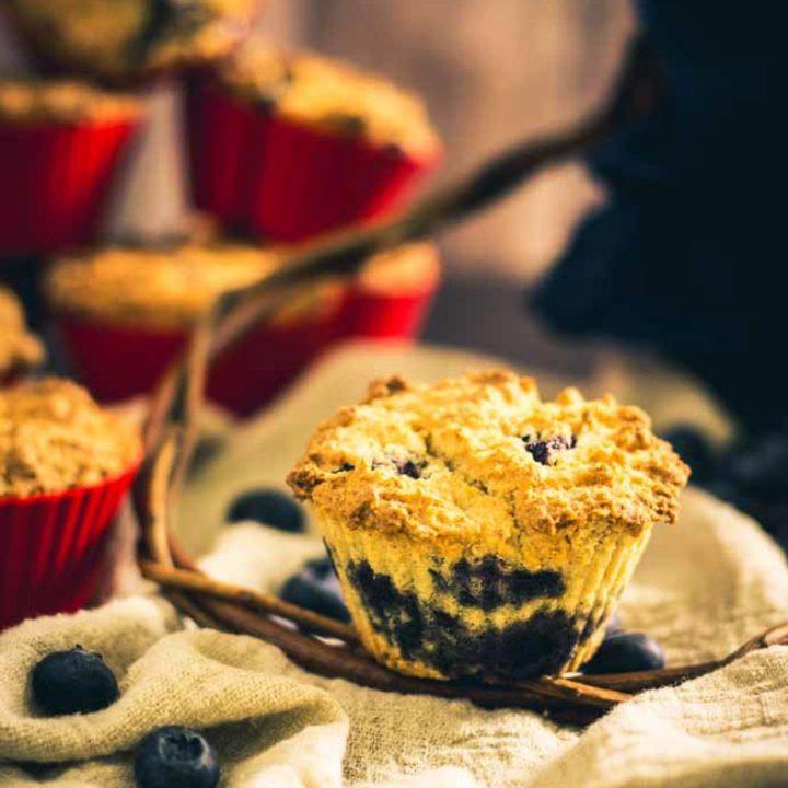 Blaubeermuffins by salala.de Low Carb Rezept ohne Zucker und glutenfrei