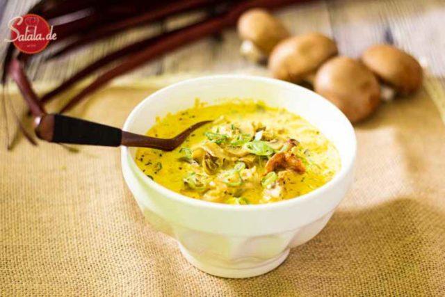 Champignoncremesuppe - by salala.de - Rezept ohne Mehl Low Carb und vegetarisch #lowcarb #rezepte #lowcarbrezepte #suppe #champigons #glutenfrei