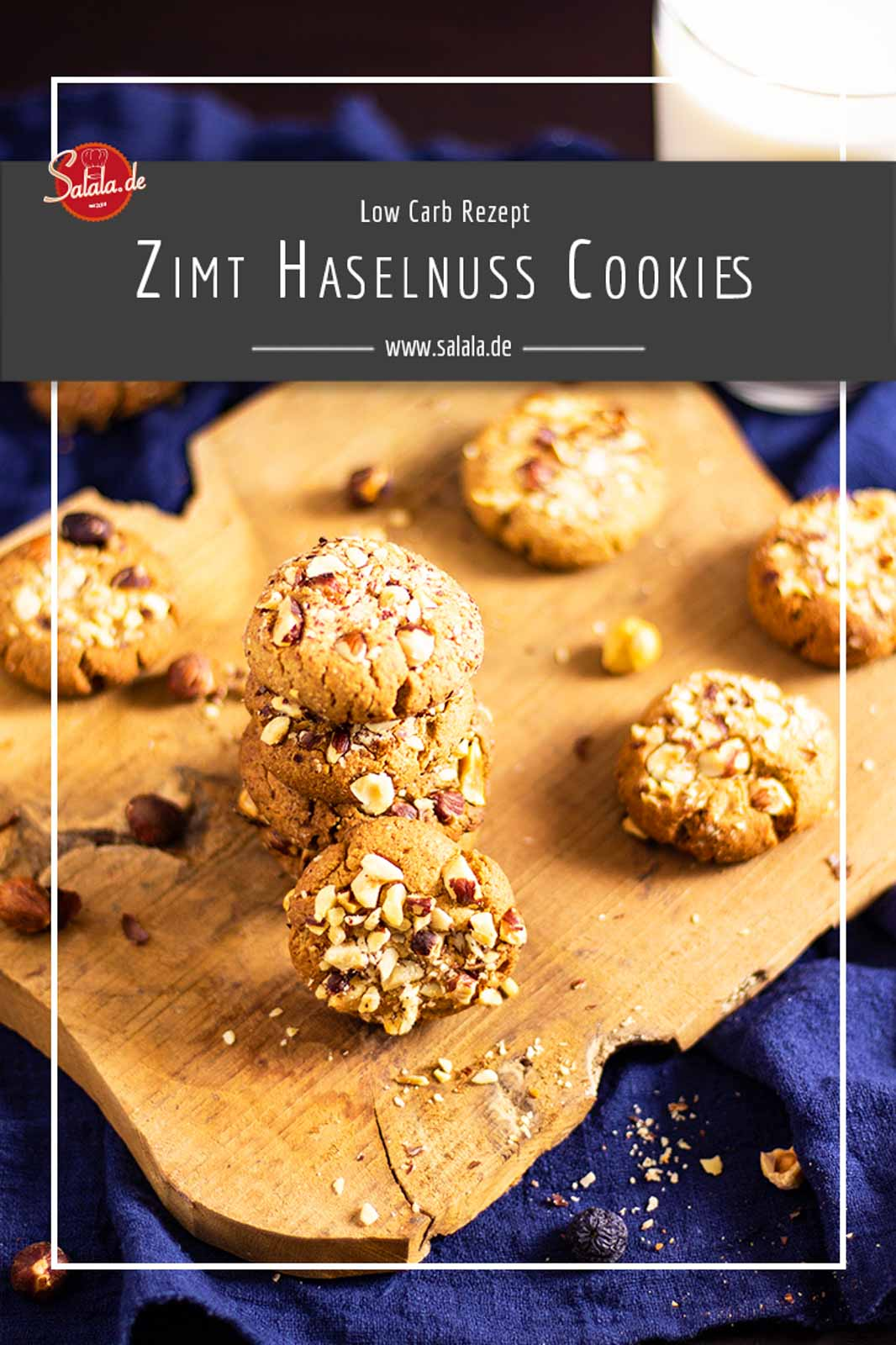 Haselnusscookies mit Zimt - by salala.de - Low Carb Rezept ohne Mehl und ohne Zucker Low Carb glutenfrei #Cookies #Haselnusscookies #Zimtcookies #glutenfrei #LowCarb #Rezepte #LowCarbRezepte