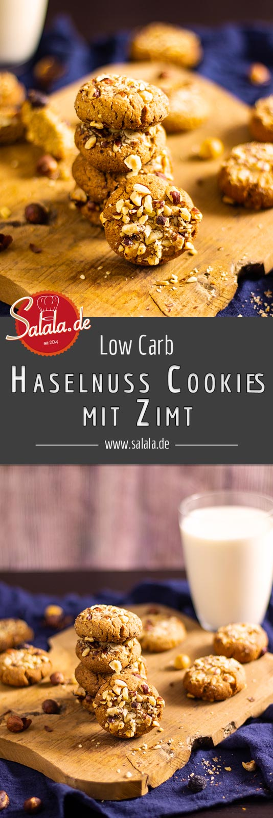 Haselnusscookies mit Zimt - by salala.de - Low Carb Rezept ohne Mehl und ohne Zucker Low Carb #Cookies #Haselnusscookies #Zimtcookies #glutenfrei #LowCarb #Rezepte #LowCarbRezepte