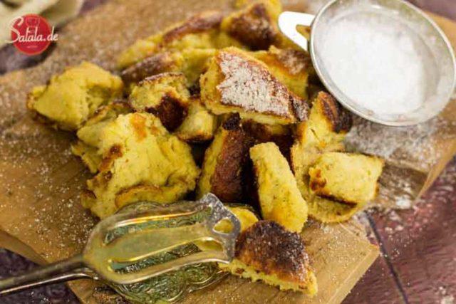Kaiserschmarrn - by salala.de - ohne Eiweißpulver und ohne Mehl ohne Zucker Rezept glutenfrei Low Carb #lowcarb #kaiserschmarrn #glutenfrei #ohneeiweißpulver #dessert #nachspeise #lowcarbrezepte #rezept