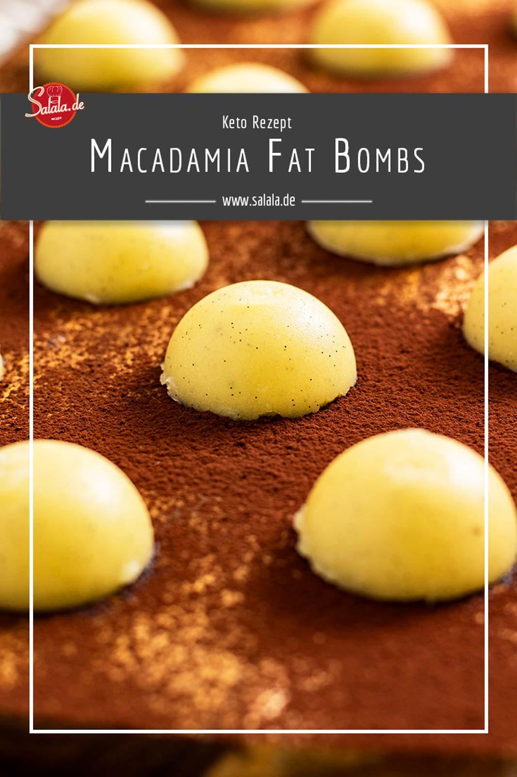 Leckere Macadamia Fat Bombs mit Butter und Kokosöl. Ein tolles Keto Rezept zum Fett auffüllen und mit viel MCT-Öl. Perfekt auch fürs Fettfasten. #fatbombs #lowcarb #lowcarbrezepte #ketorezepte