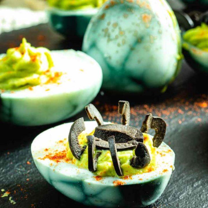 Spinneneier zu Halloween I gefüllte Eier mit Wasabi Low Carb 20181022 Pinterest salala.de Hochkant 4