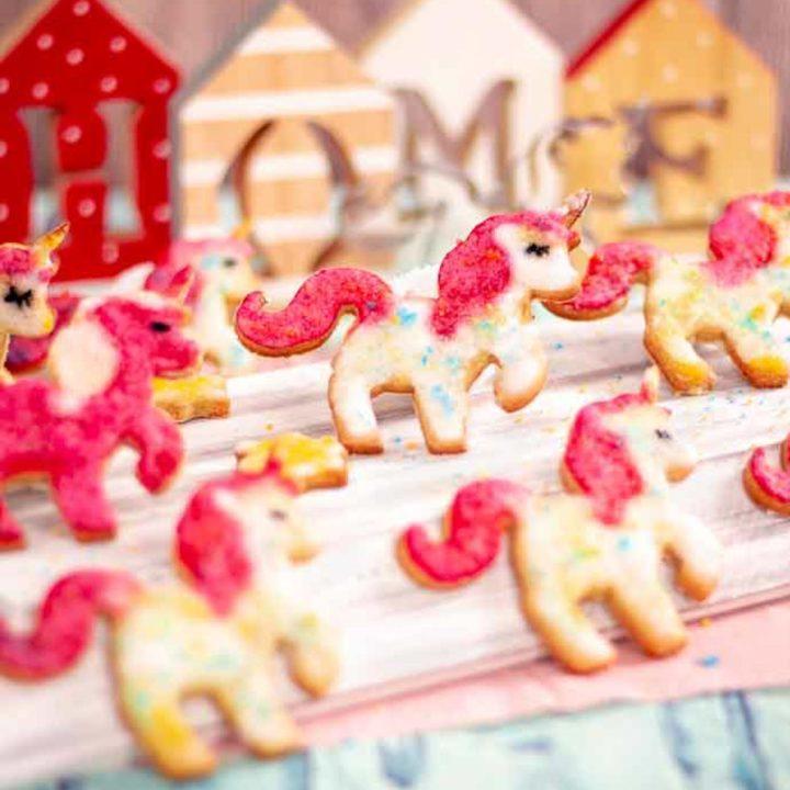 Einhornplätzchen I Einhornkekse by salala.de ohne Zucker und ohne Mehl Low Carb Weihnachtsplätzchen Rezept glutenfrei