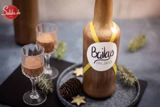 Baileys ohne Zucker selber machen - by salala.de - Low Carb Rezept für Irish Cream oder Schoko-Sahne-Likör selber machen