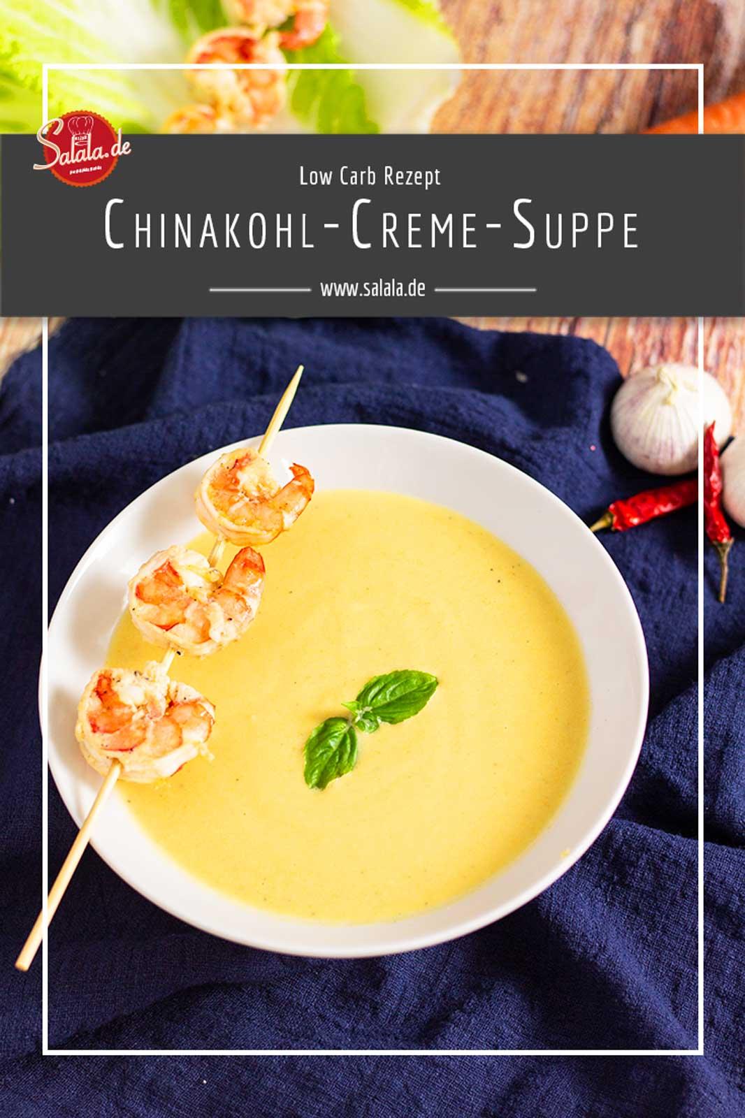 Rezept für eine Low Carb Chinakohlsuppe mit Garnelen und Sahne. Ganz ohne Bullshit.  #lowcarbrezepte #chinakohlsuppe #cremesuppe #lowcarbsuppe