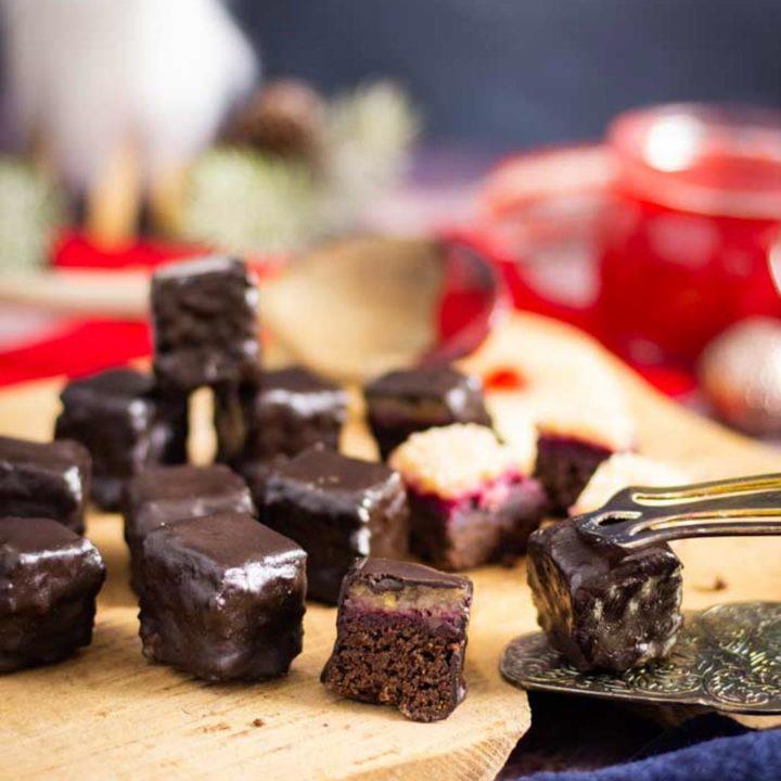Dominosteine selber machen by salala.de ohne Zucker und ohne Mehl I Low Carb Rezept glutenfrei