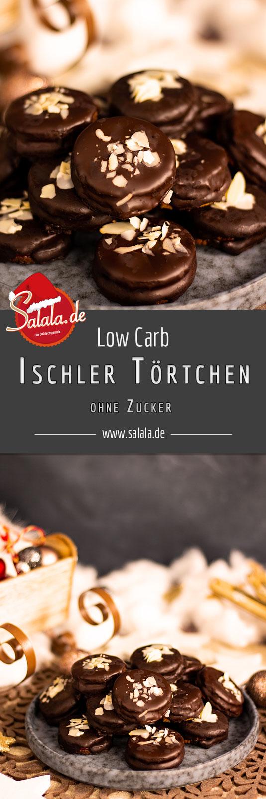 Ischler Törtchen mit Schokoladen-Buttercreme - by salala.de - ohne Zucker und ohne Mehl I Low Carb Plätzchen Rezept glutenfrei