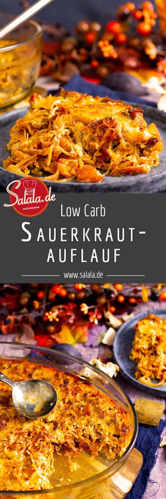 Wärmender Sauerkrautauflauf mit Hackfleisch im Spätherbst ist Balsam für die Seele. Warm und reichhaltig und auch voll mit Vitamin C. Gesund, lecker und kohlenhydratarm. Ich nehm gern eine zweite Portion ;) #sauerkrautauflauf #lowcarb #lowcarbrezepte #lowcarbkochen #sauerkraut #lowcarbauflauf #rezepte