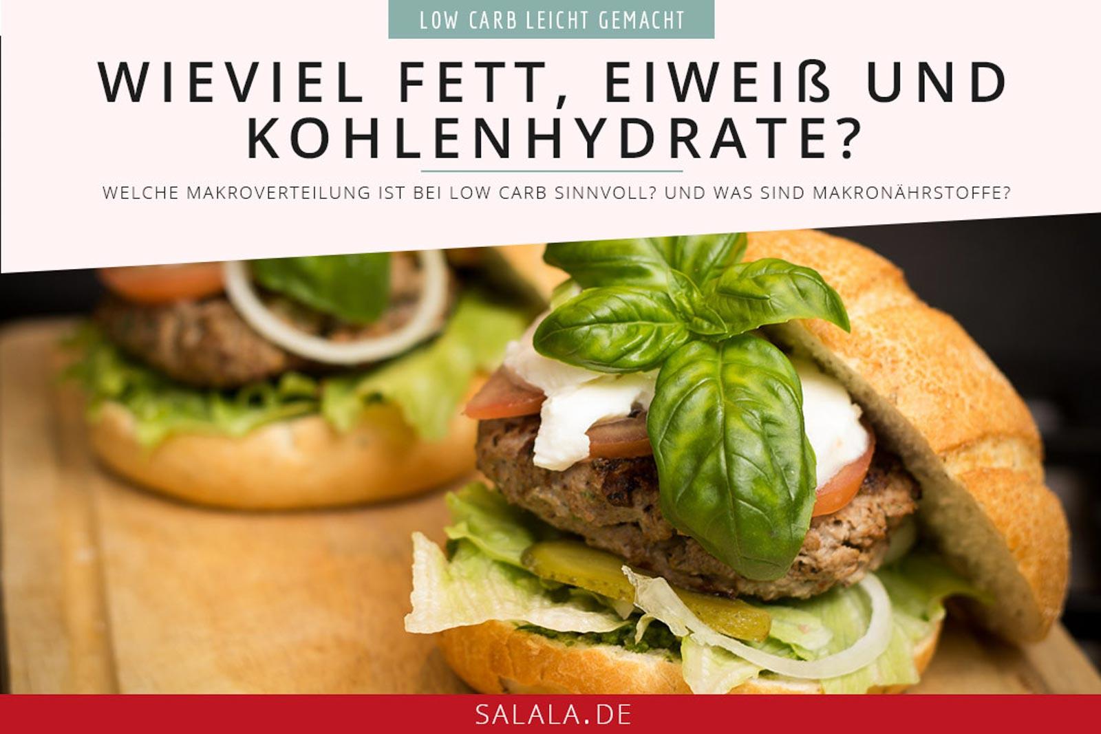 Makronährstoffe I by salala.de I Wie viele Kohlenhydrate Fett und Eiweiß bei Low Carb essen