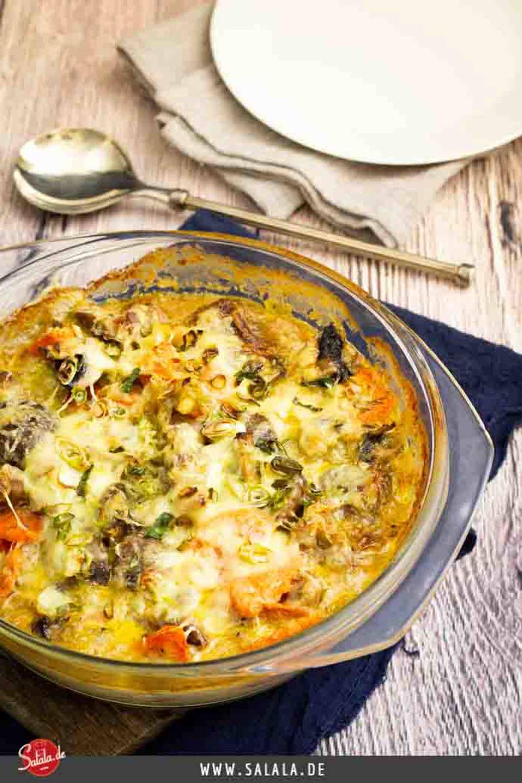 Nackensteakauflauf - by salala.de - Low Carb Auflauf Rezept mit Karotten