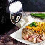 Cheddar-Blumenkohl mit Nackensteak in der Krups Cook4Me+ Connect I salala.de I Low Carb Rezept (1)