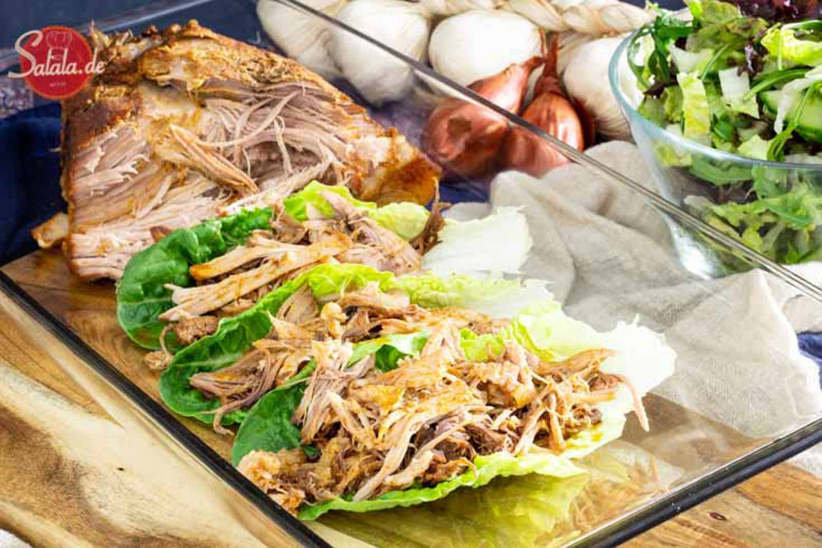 Pulled Pork aus dem Slow Cooker I by salala.de I Low Carb Rezept mit Schweinefleisch