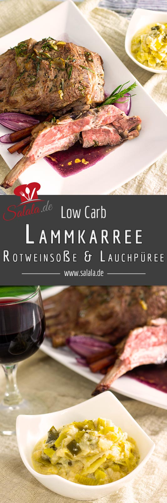 #Lammkarree #Lauchpüree #lowcarb #lowcarbrezepte #osterrezpte #rezpetemitlamm #rezeptemitlauch #rezeptemitblumenkohl #lamminrotweinsauce #lowcarbkochen