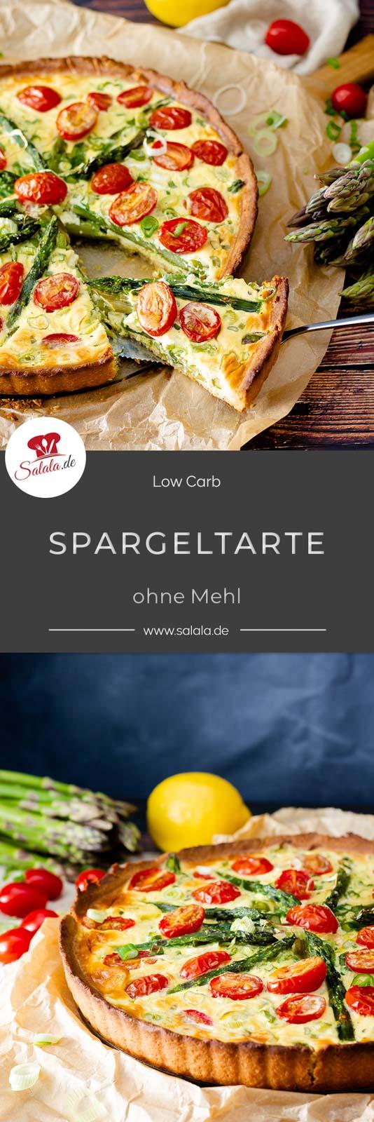 Wir haben sie wieder, die Spargelsaison. Und was gibt es leckereres als grünen Spargel? Richtig. Spargel in Form einer Quiche. Deshalb gibt's für dich ein ganz leckeres Low Carb Spargeltarte Rezept. Natürlich ohne Mehl und damit glutenfrei. Oderr ist es nicht doch eher eine Quiche? Was meinst du?  #spargelquiche #leckerimfruehling #spargeltarte #lowcarb #lowcarbmuerbeteig #lowcarbquiche #lowcarbtarte #rezeptemitspargel #spargelrezepte #lowcarbrezepte