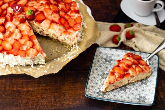 No Bake Erdbeer-Espresso-Torte