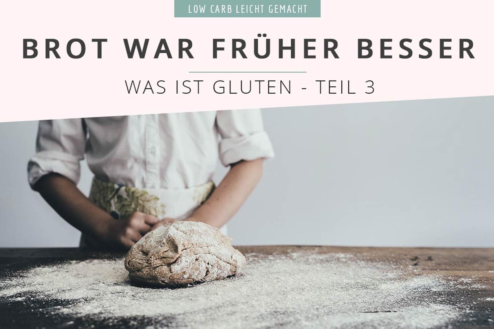 """Früher war alles besser! Ok, vielleicht nicht alles, aber Brot auf jeden Fall. Aber warum ist das so? Warum ist glutenfrei plötzlich in aller Munde? Und warum wird Weizen so verteufelt? Darüber haben wir uns im 3. Teil unserer """"Was ist Gluten""""-Serie Gedanken gemacht. #lowcarbwissen #gluten #weizenmehl #glutenfrei #weizenfrei #gliadin #glutenin #glutenfreigesund"""