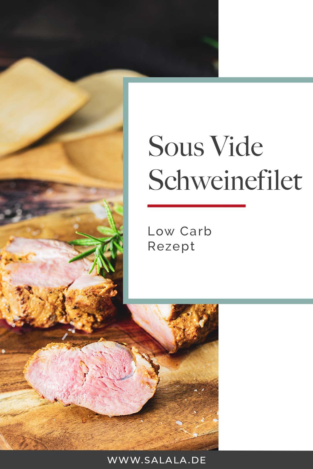 Wenn du mal so richtig zart rosanes Schweinefilet haben möchtest, dann mach das Sous Vide. Die schonende Art des Garnes lohnt sich voll und ganz und das nicht nur in der Low Carb Küche. Das Filet wird richtig schön saftig und behält auch den vollen Geschmack.  #sousvide #schweinefilet #kochenmitsousvide #garenmitsousvide #vakuumkochen #kochenmitvakuum #lowcarbrezepte