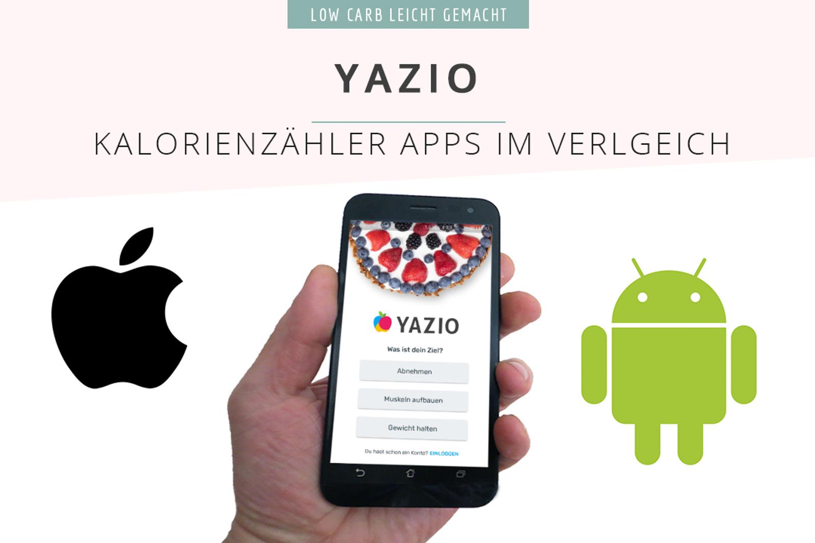 Yazio Kalorienzaehlerapps im Vergleich 1
