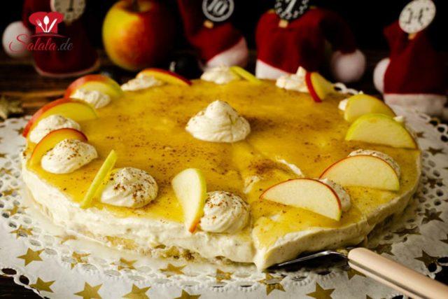 Apfel-Zimt-Käsetorte ohne Zucker