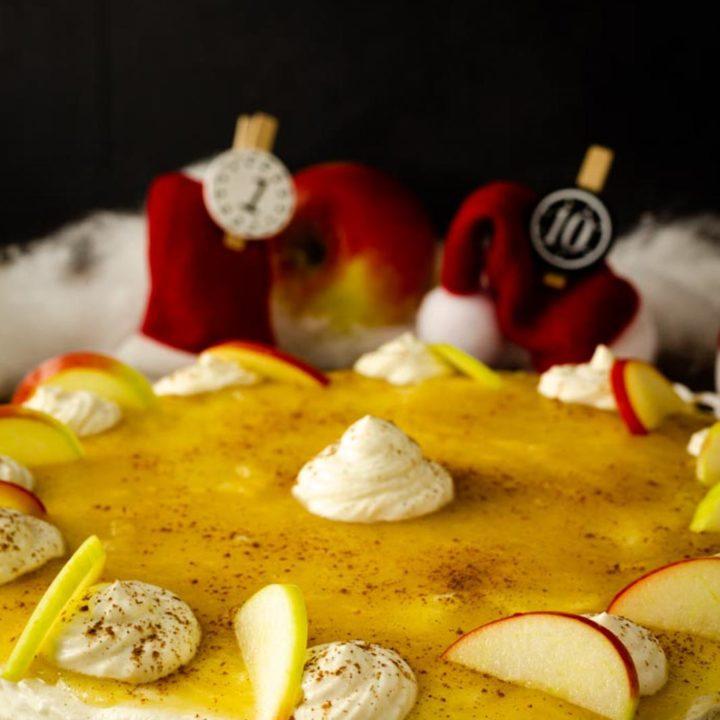 Apfel Zimt Käsetorte I by salala.de I Kühlschrankkuchen ohne Zucker und ohne Mehl 2