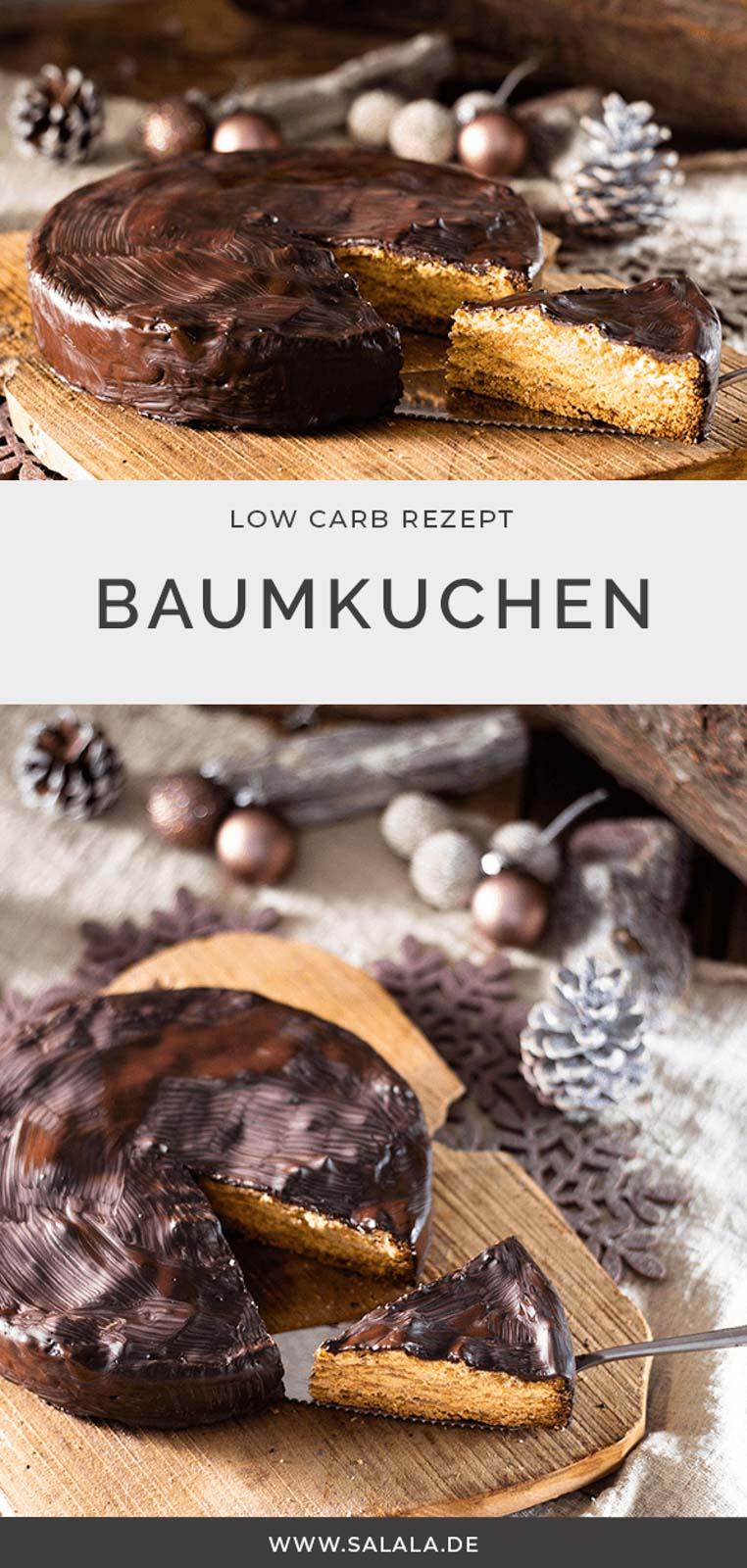 Baumkuchen. Das ist doch der Kuchen der so oft gebacken werden muss oder? Jap, genau der. Und wir haben ihn Lowcarbifiziert. Ohne Kokosmehl, dafür mit Bambusfasern. Und mit wenig Kohlenhydraten schmeckt der Baumkuchen gleich doppelt so lecker. Den musst du probieren. #lowcarb #lowcarbbaumkuchen #lowcarbweihnachten #lowcarbweihnachtsgebaeck #baumkuchenohnemehl #glutenfreierbaumkuchen