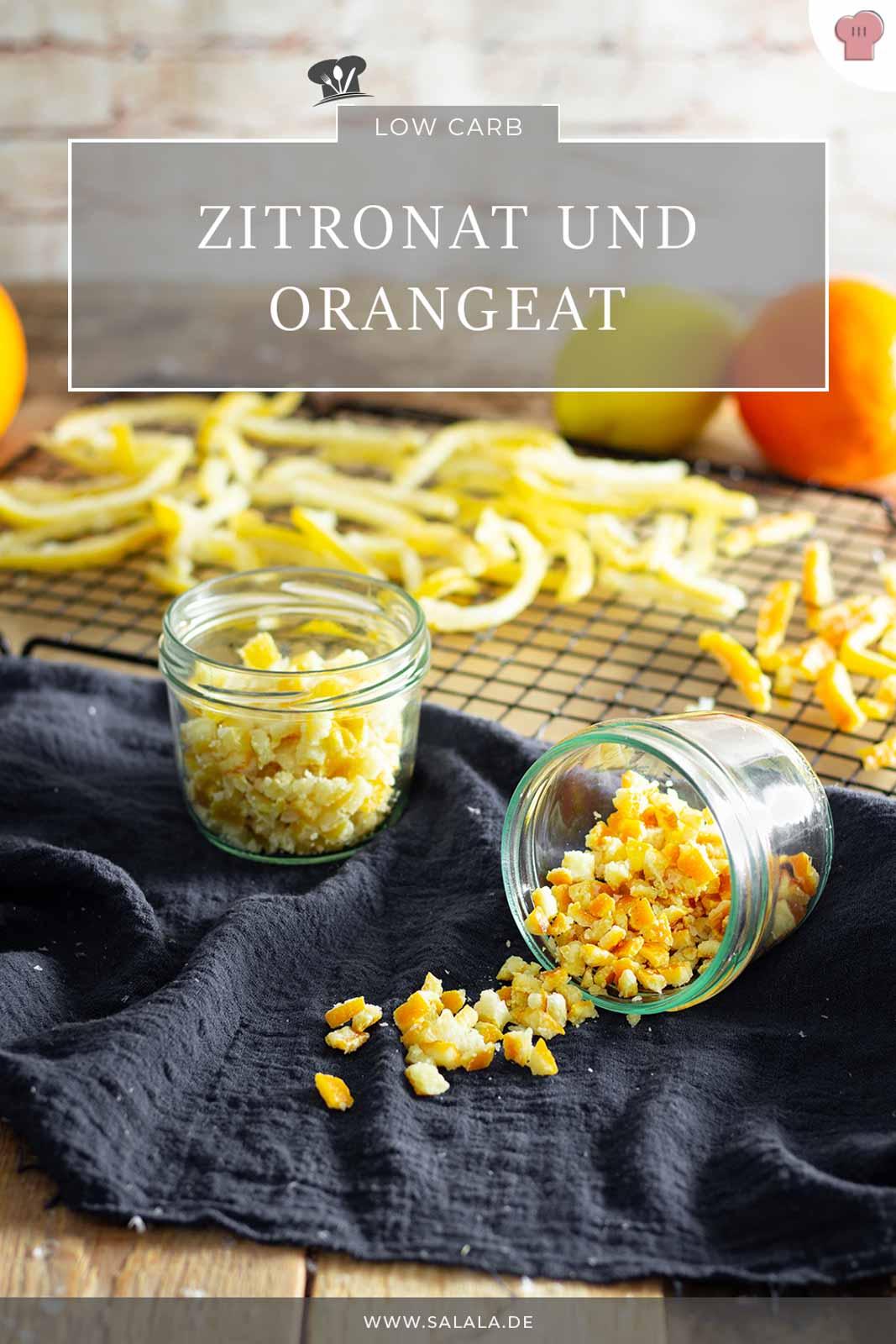 Orangeat und Zitronat sind zwei Hauptzutaten in der weihnachtlichen Lebkuchenbäckerei. Und du kannst Orangeat und Zitronat problemlos mit Xylit, also ganz ohne Zucker, selber machen. Das Rezept ist nicht schwer und geht auch ganz schnell. #zuckerfrei #orangeat #zitronat #selbermachen #zitronatohnezucker #orangeatohnezucker #lowcarbzitronat #lowcarborangeat