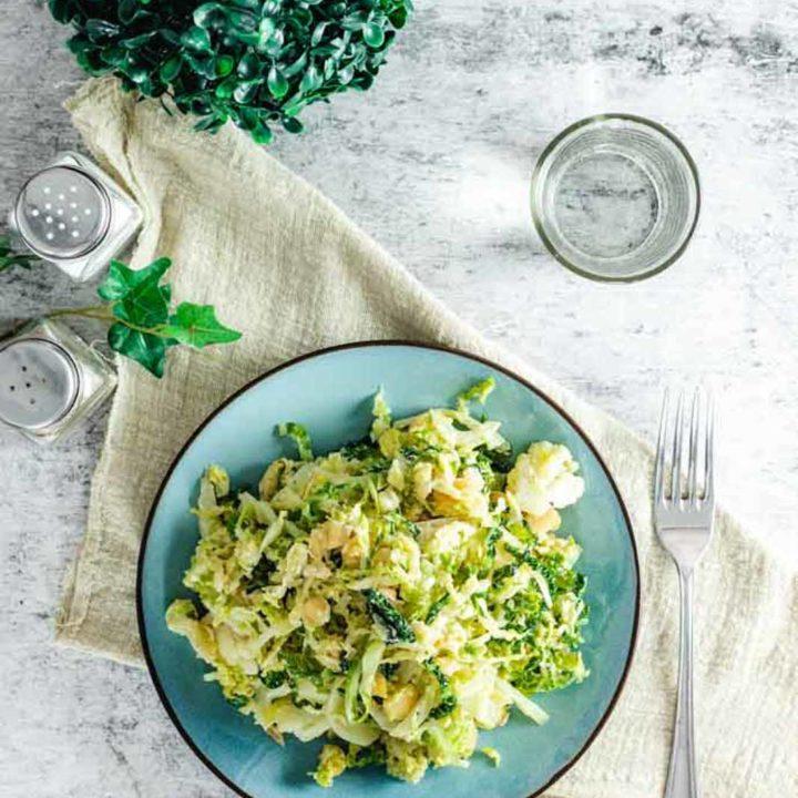 Wirsing Blumekohl Macadamia Pfanne I by salala.de I Fettfasten Keto Rezept vegetaisch selber machen 1