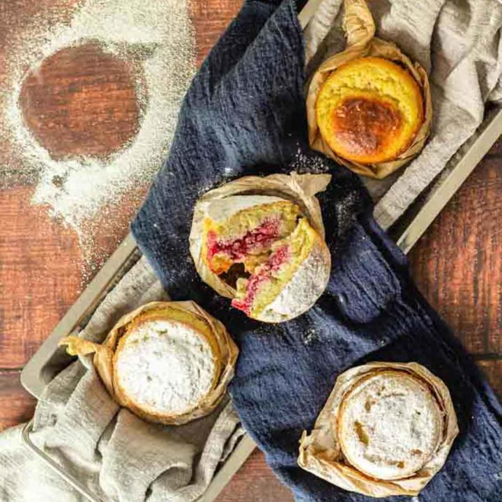 Gefüllter Chaffle Kuchen oder Keto Krapfen I by salala.de I Keto Rezept für low carb Rezept 2